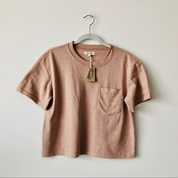 ef418bb8e85ea5 Madewell Garment-Dyed Easy Crop Tee